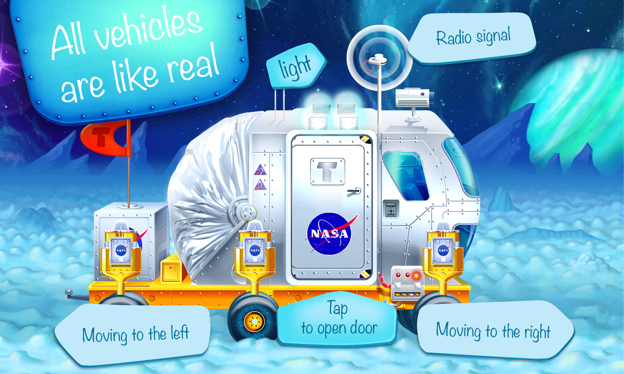 Space vehicles (app for kids)- screenshot