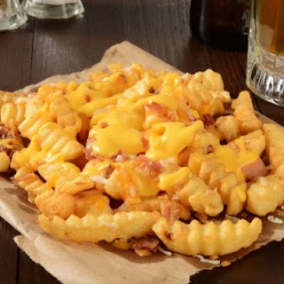 Canadian Bacon Cheese Fries.