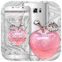 Crystal Pink Apple Launcher Theme 🍎 icon
