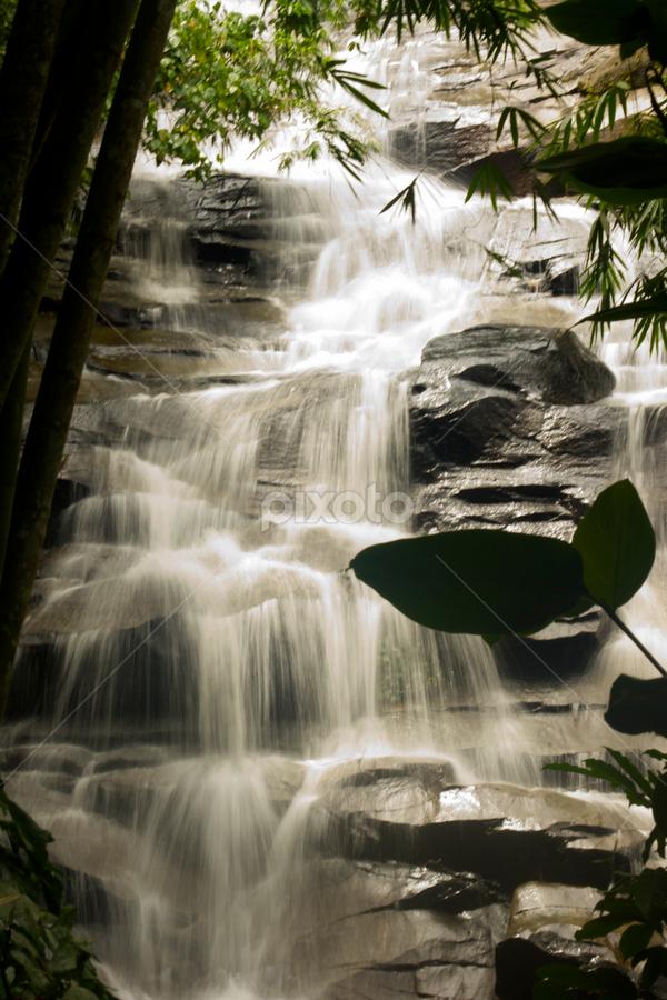 Waterfalls by Diviya Ranganahan - Landscapes Waterscapes