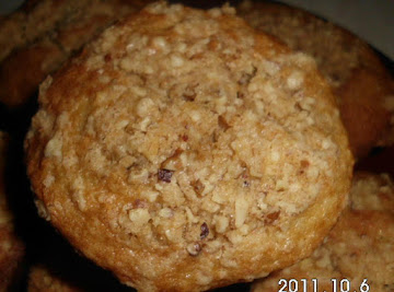 Banana Cake Muffins With A Struesel Nut Topping Recipe