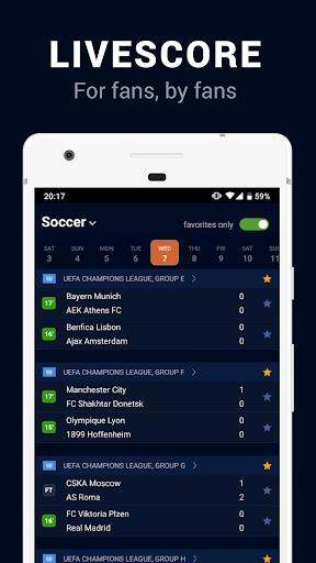 Goalwire Livescore 0.6.0 screenshots 1
