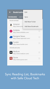 Mercury Browser for Android – Vignette de la capture d'écran