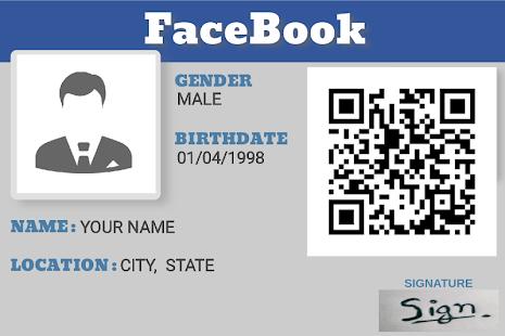 Facebook IdCard Maker - náhled