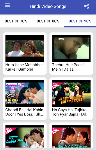 Hindi Video Songs : Best of 70s 80s 90s 1.0.5 screenshots 5