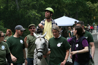 Photo: Ariel has had nearly 100 rides with GallopNYC over the past three years.  Every time he is on a horse, he gives 110 percent; he smiles and encourages everyone he works with to smile.   When he started riding he needed to be supported by 4 volunteers.  He can now balance and ride at the walk without any physical support.  When he rides on the horse, his speech is clear and is motivated to use his body effectively. His mother says that horseback riding is the only therapy that really helps.