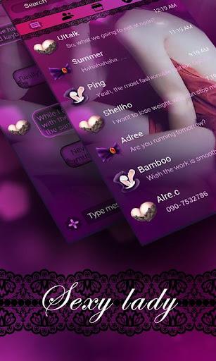 FREE GO SMS SEXYLADY THEME