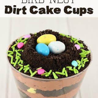 Bird Nest Dirt Cups.