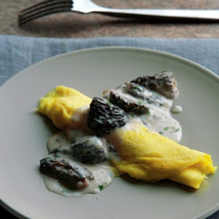 Omelet With Creamy Morel Mushrooms