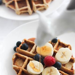 Banana Bread Protein Waffles (GF).