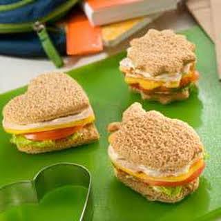 Turkey Finger Sandwiches.