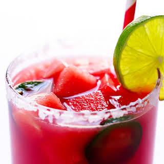 Spicy Jalapeño Watermelon Margaritas.