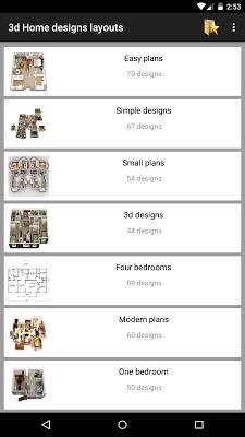 3d Home designs layouts - screenshot
