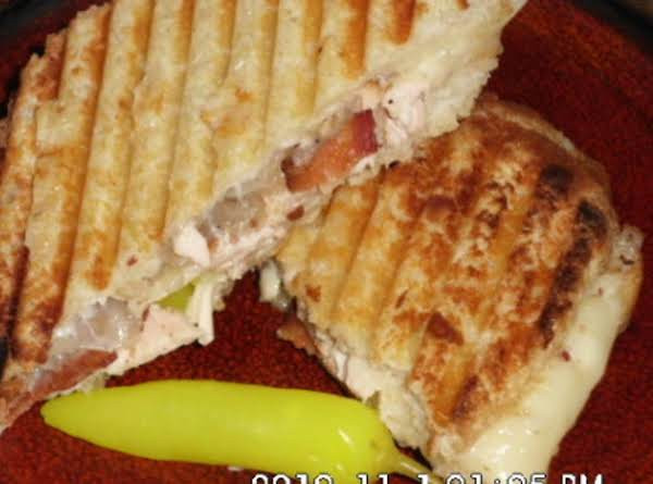 Smoked Turkey Panni W/bacon, Onions, & Peppers Recipe