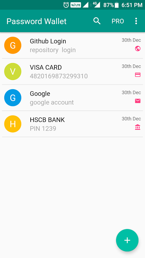 Password Wallet- screenshot