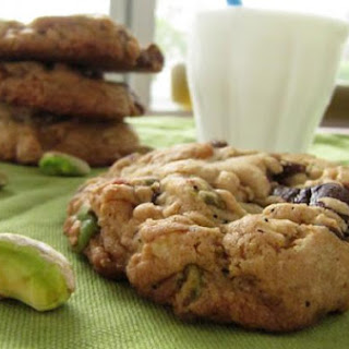 Chewy Pistachio Pretzel Chocolate Chip Cookies