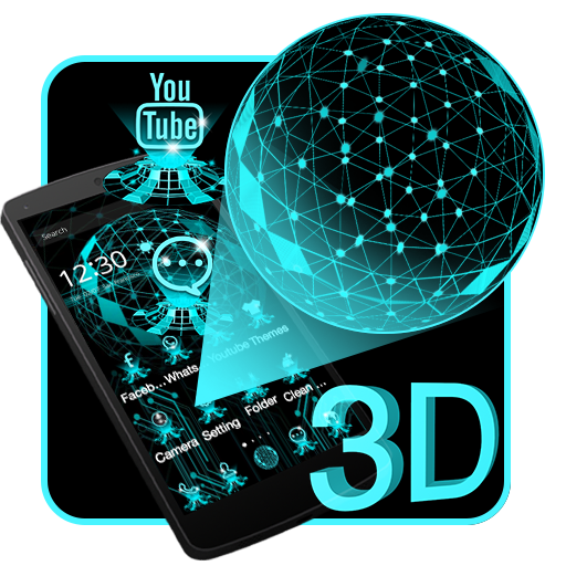 3D Dynamic Hologram Projection Launcher Theme