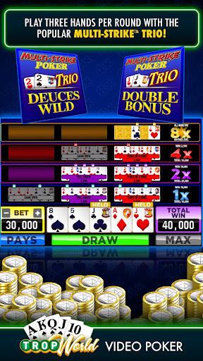 TropWorld Video Poker | Free Video Poker - screenshot