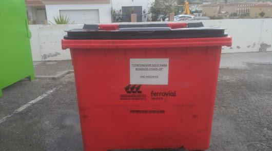 Un nuevo contenedor rojo para residuos del coronavirus