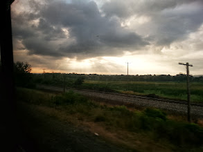 Photo: The sun is trying to break through the clouds.