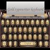 3D Gold Typewriter Keyboard Theme