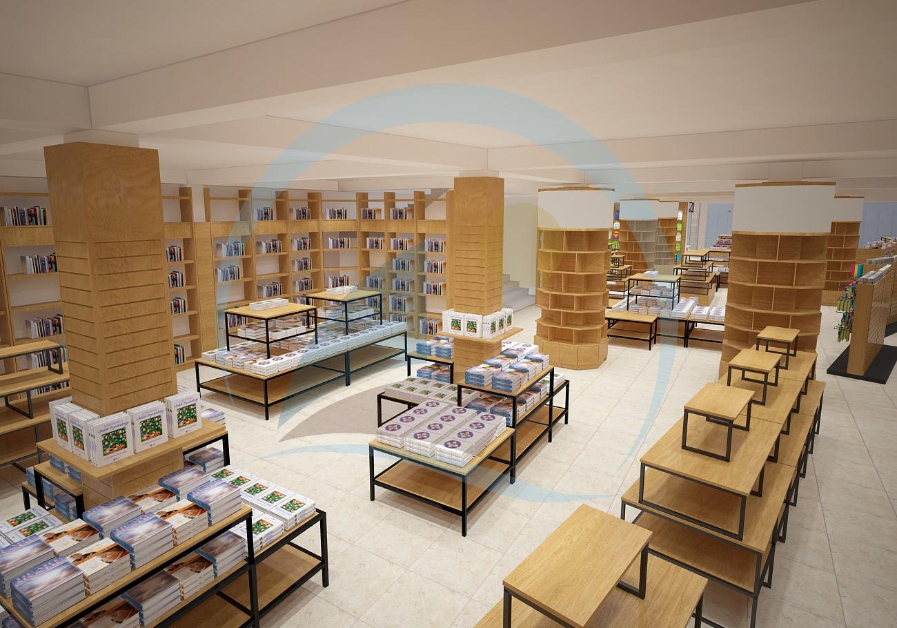 thiết kế nội thất nhà sách Trí Đức 8