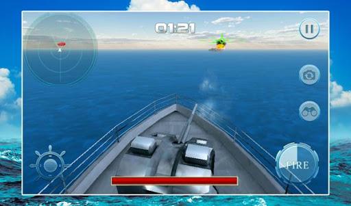軍艦の戦闘の砲手