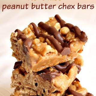 No Bake Peanut Butter Chex Bars