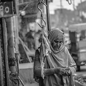 Naked Life by Furrukh Shahzad - Black & White Street & Candid ( oldlady, beef, pakistan, story, blackandwhite, hafizabad, d810, streetlife, food, money, local, nikon, bnw,  )