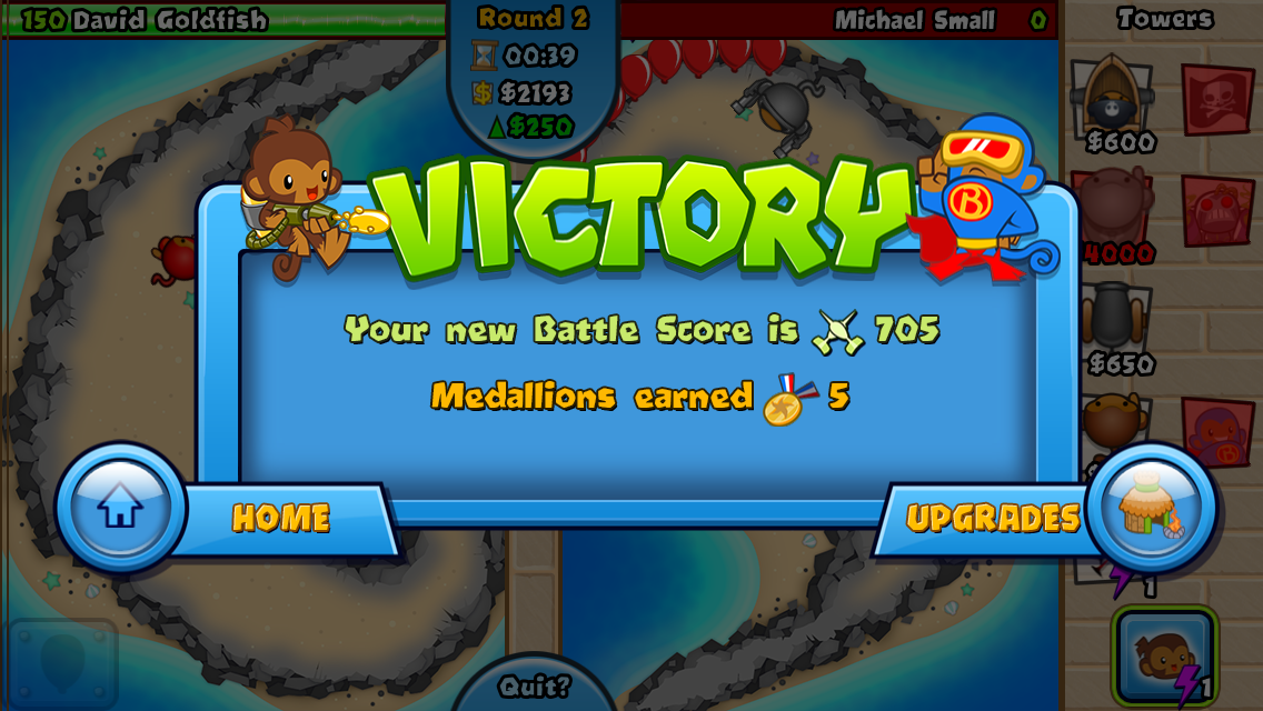 #3. Bloons TD Battles (Android)