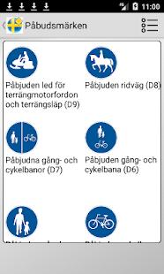 Road signs in Sweden - náhled