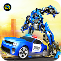 US Robot Car Transform - Police Robot Fighting icon