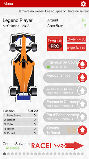 Télécharger Gratuit APEX Race Manager 2019 APK MOD (Astuce) screenshots 1