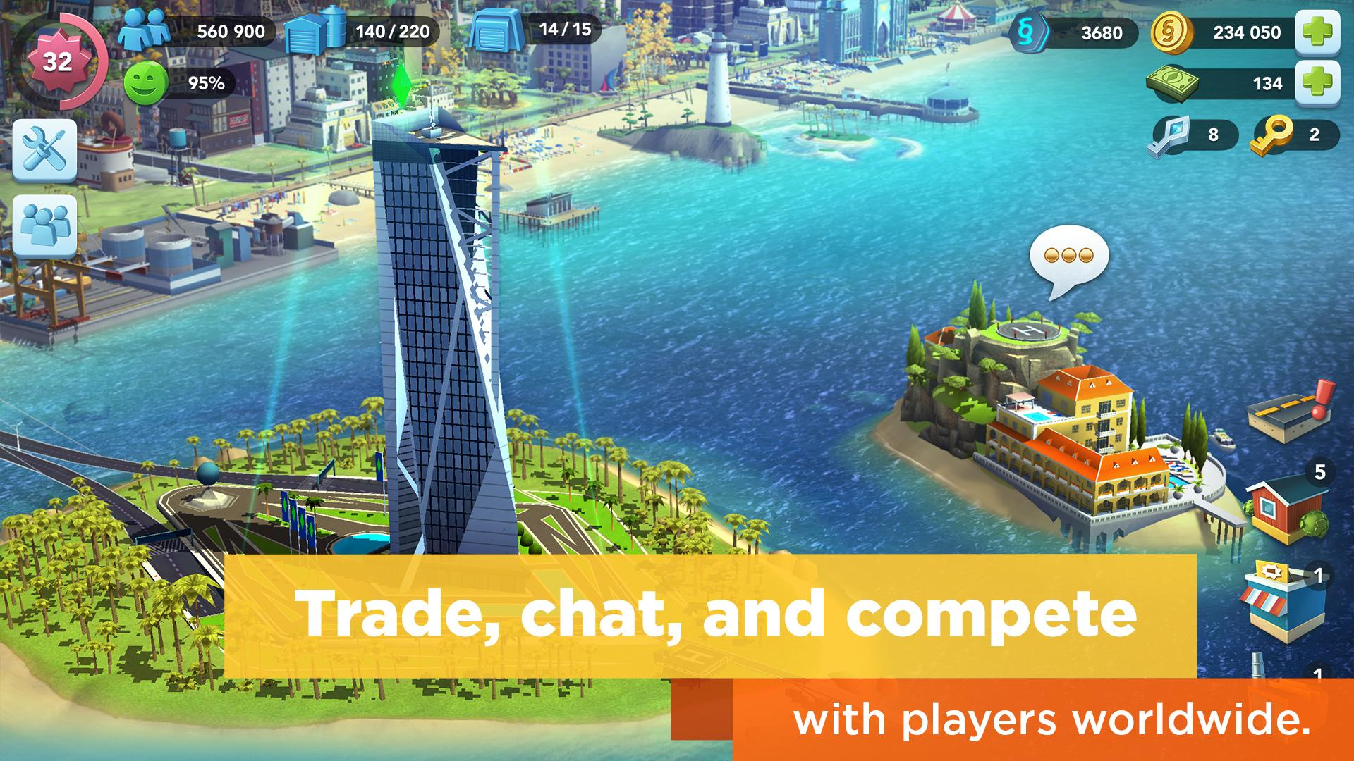 Simcity Buildit Mod Apk (Unlimited Money/Coins/Keys) Latest Version 3