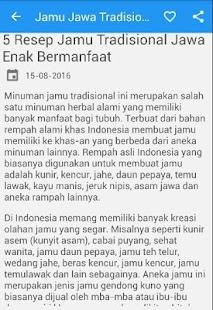 Jamu Jawa Tradisional - náhled