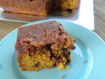 Pecan Crusted Pumpkin Loaf (with Rum & Chocolate Chips) Recipe