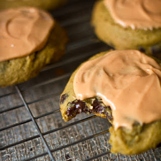 Dark Chocolate Chip Pumpkin Cookies with Cream Cheese Glaze & a McCormick Giveaway!.