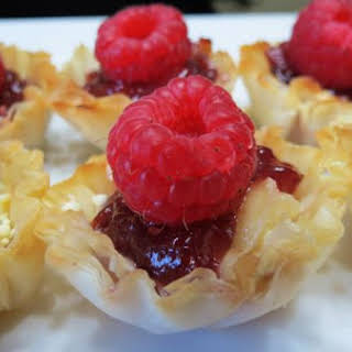 White Chocolate Raspberry Brie Cups.