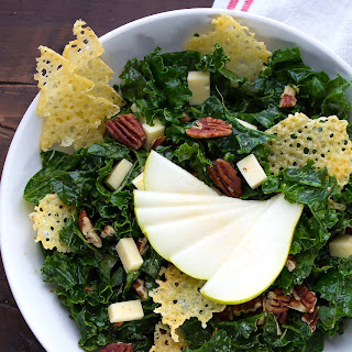 Balsamic Winter Kale Salad with Havarti Crisps