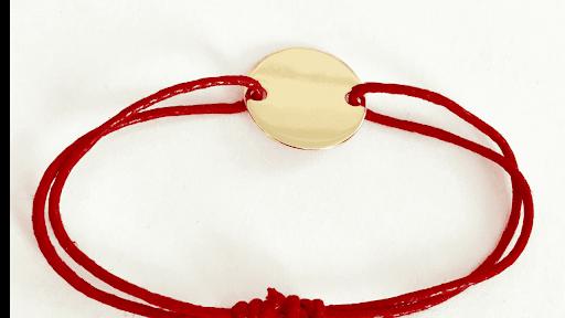 bracelet pastille plate en plaqué or