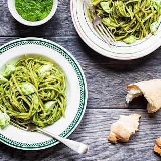 Whole Wheat Pasta with Kale Pesto.