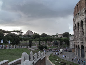 Photo: View of Palatine Hill, with the Colosseum to the right