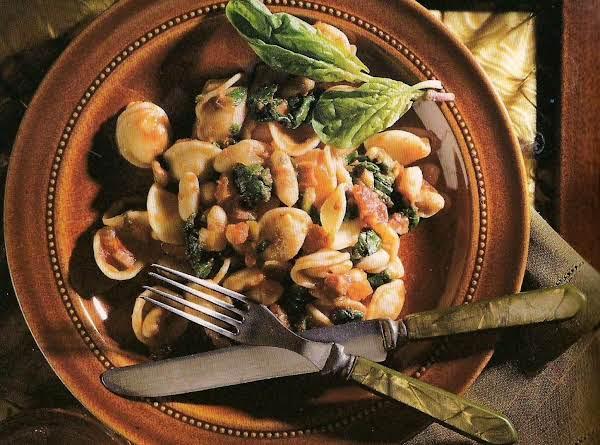 Orecchiette Con Spinaci E Fagioli Cannellini (orec