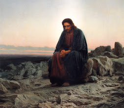 Photo: Title: Christ in the Desert (aka Christ in the Wilderness) Artist: Ivan Kramskoi Medium: Oil on canvas Date: 1872 Size: 180 x 210 cm Location: Tretyakov Gallery, Moscow, Russia. http://iconsandimagery.blogspot.com/2009/06/christ-in-desert.html