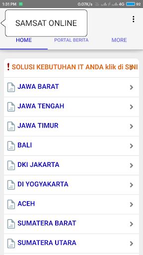 Samsat Online 2.0 screenshots 1