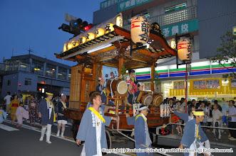 Photo: 【平成21年(2009) 宵宮】  とっぷりと暮れた上溝駅前。