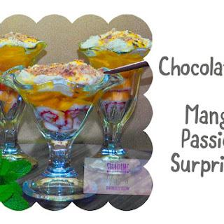 Chocolate & Mango Passion Surprise.