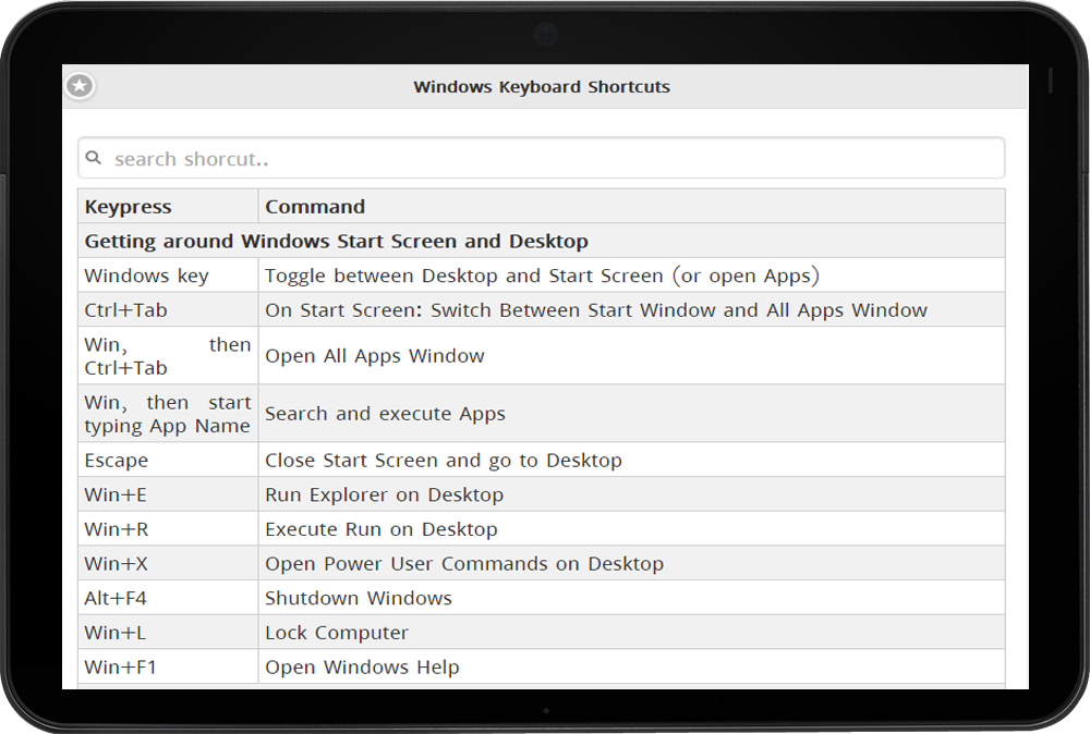 Keyboard Shortcut for Windows - Android Apps on Google Play