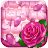 Pink Rose Keyboard Themes