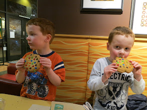 Photo: The best dinner of the trip - Panera Breads.  Fantastic cookies too.